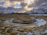 Vollen Canals, Vollen, Lofoten, Norway, shape, gravitas, grass, lions mane, soft, snow, mountain, luxurious, pristine photo