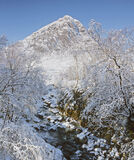 White Buachaille, Rannoch Moor, Glencoe, Scotland, white, pyramid, snow, Buachaille etive mor, rubble, river, Coupal, li photo