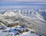 Winter Altitude, Horns of Alligin, Torridon, Scotland, summit, Torridonian, Tom Na Gruigach, snow, morning, winter, moun photo