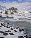 Winter Course Rhidarroch, Rhidarroch, Inverpolly, Scotland, winter, snow, river, bend, loch, drains, light, wonderland,  photo
