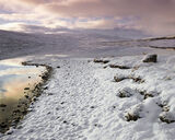 Winter Drift, Loch A Chroisg, Achnasheen, Scotland, glorious, winter, sunrise, water, mirror, reflections, snow   photo