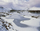 Winter Essence Rannoch, Rannoch Moor, Glencoe, Scotland, winter, extreme, weather, Black mount, dimpled, ice, jig-saws   photo
