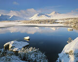 Winter Purity, Loch Na Stainge, Glencoe, Scotland, pristine, snow, Rannoch moor, blue, sky, lochans, cloud, reflects, ic photo