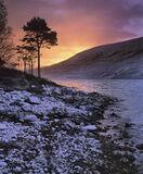 Winter Sunrise Loch a Chroisg, Loch a Chroisg, Torridon, Scotland, Achnasheen, snow, squall, dusted, rewarded, contrast photo