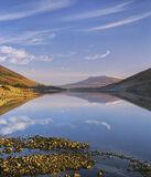 Wispy, Loch a Chroisg, Achnasheen, Scotland, perfect, morning, sunrise, cirrus, clouds, reflection, golden, pebbles, bra photo