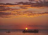 Zanzibar Sunset, West Coast, Zanzibar, Africa, lines, underlit, fire, sun, sizzled, end, island  photo