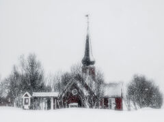 Blizzard Flakstad Church