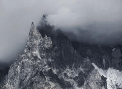 Brooding, Les Houches, Chamonix, France, awesome, majestic, peaks, dark, savage, squall, mountain, Mont Blanc Massif, su