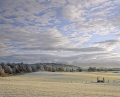 Cairngorm, view, Aviemore, Scotland, sunlight, winter, frozen