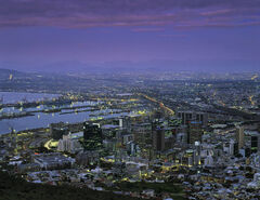 Cape Town Twilight, Cape Town, South Africa, Africa, peninsula, Lions Head, top, suburbs, city, twilight, lights