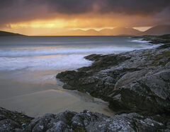 Clearing Squall, Traigh Rosamol. Harris, Scotland, transient light, finest, backlighting, summer, squall, atlantic, beac