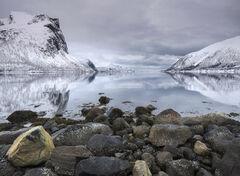 Dawn Bergsbotn Fjord