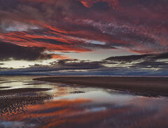 Epic Aftermath, Findhorn, Moray, Scotland, colour, sky, clouds, tortured, tide, reflection