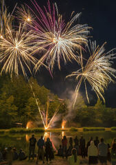 Fireworks 3, Les Houches, Chamonix, France, town, Bastille day, village, epic, fantastic, displays, lake, darkness