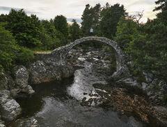 Fragile Carrbridge, Carrbridge, Highland, Scotland, stone, gorge, foliage, summer, bridge
