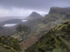 Gloomy Quiraing, Quiraing, Skye, Scotland, mood, feel, damp, eerie, cold, dejected, majestic, silence, atmosphere, shive