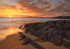 The last moments before sunset at Traigh Mhor beach on Harris.