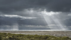 Heaven Sent Findhorn, Findhorn, Moray, Scotland, sparkling, sea, curtain, sunlight, dancing, glinting, rays, dunes, dram