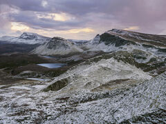Sugar Coated Sharks Fin, Quiraing, Skye, Scotland, magnificent, viewpoints, snow, dusted, chilly, fin,