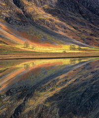 Kaleidoscape Glencoe, Loch Achtriochtan, Glencoe, Scotland, loch, mirror, smooth, reflection, shallow, glen, mountains,