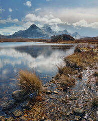 Lucky to find myself treated to a reflection of the snow covered peaks of Ben Loyal in the surface of beautiful Loch Hakel on a lovely Spring morning.