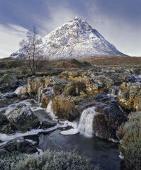 Lord Of The Realm, Rannoch Moor, Glencoe, Scotland, iconic, status, winter, morning, pyramid, ice, snow, moorland, beaut