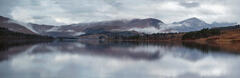 Misty Reflection Tulla, Loch Tulla, Bridge of Orchy, Scotland, panoramic, sky, definition, mist, reflected, spectacular,