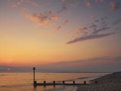 Red Dawn Findhorn, Findhorn, Moray, Scotland, haar, sea, shingle, break water, silhouette, sunrise, Burghead, amber, ora