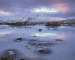 Rose Tinted Spectacle, Rannoch Moor, Glencoe, Scotland, sublime, fading, winter, mountain, ice, snow, clouds, crown, cya