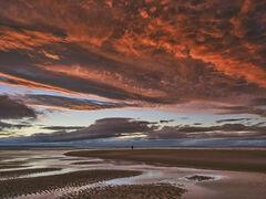 Scorched Earth Findhorn, Findhorn, Moray, Scotland, celestial, fireworks, epic, surreal, awesome, scarlet, reflected, bl