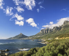 Smoke Signals, Llandudno, South Africa, Africa, afternoon, view, Table Mountain, escarpment, mist, cloud, Lions Head, wi
