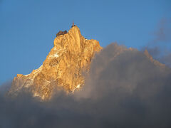 Sneak Preview, Les Houches, Chamonix, France, rare, moment, clarity, Aiguille Du Midi, exposed, peak, summer, traces, sn