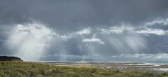 Solar Flare Findhorn, Findhorn, Moray, Scotland, aurora, day time, dancing, sunlight, breaking, gaps, cloud, sparkle, se