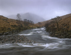 Sombre Etive, Glen Etive, Glencoe, Scotland, joyless, bleak, miserable, raining, mood, raw, austere, mountain, hope