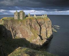 Storm Approaching Dunottar, Dunottar Castle, Stonehaven, Scotland, romantic, impregnable, cliffside, Aberdeenshire, view