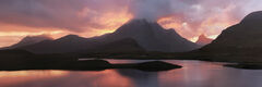 Sunset Pano Knockan Crag