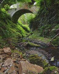 Swallow Me Whole, Craigmin Bridge, Buckie, Scotland, bridge, Amityville, multi-tiered, lidded eyes, arches, gaping, maw,