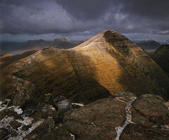 Transient Light Beinn Alligin, Tom Na Gruigaich, Scotland, climbing, summit, marginal, weather, awesome, splendour, clou