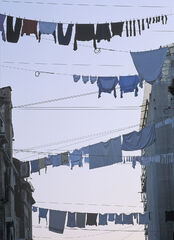 Washday Venice, Venice Italy, Monday, wsh, week, neatest, presentation, hanging, garments, laundry, neighbour, competes