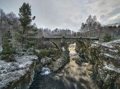Winter Dusting Strath Garve Bridge