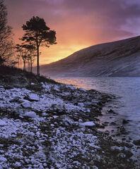 Winter Sunrise Loch a Chroisg