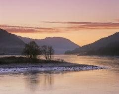 Winter Sunset Lochleven
