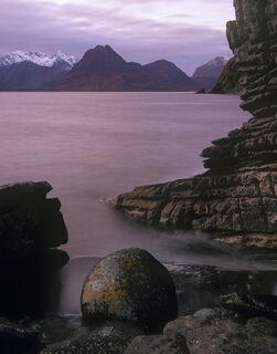 Beach ball, Elgol, Skye, Scotland, Joe Cornish, spherical, pink