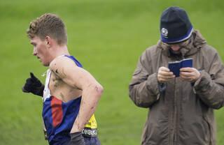 Interested Spectator, Edinburgh, Lothian, Scotland, amusing, Andy Butchart, 12 kilometre, circuit, elite, cross country,