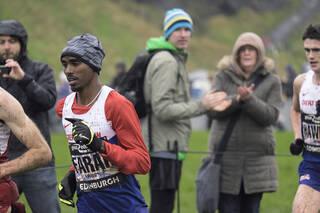 Mo Farah 1, Edinburgh, Lothian, Scotland, cross country, GB, Mo Farah, Heath Garrett, mud, cold, beaten