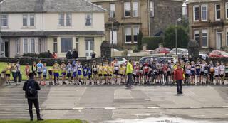 Road Race Start 2, Greenoch, Glasgow, Scotland, start, Championship, road race, under 13, Ben Cameron, Forres Harriers