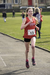 Shattered, Greenoch, Glasgow, Scotland, Anna MacFadyen, U17, girls, Forres Harriers, second, fast, road race
