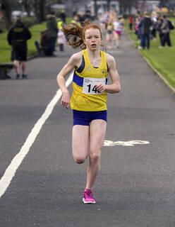 U13 Girls Winner, Greenoch, Glasgow, Scotland, Kate Richardson, girls, race, Giffnock Athletics Club