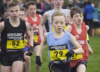 Under 13 Boys Start 2, Edinburgh, Lothian, Scotland, start, interdistrict, race, runners, Ben Cameron, Lewis Dow, 69, No