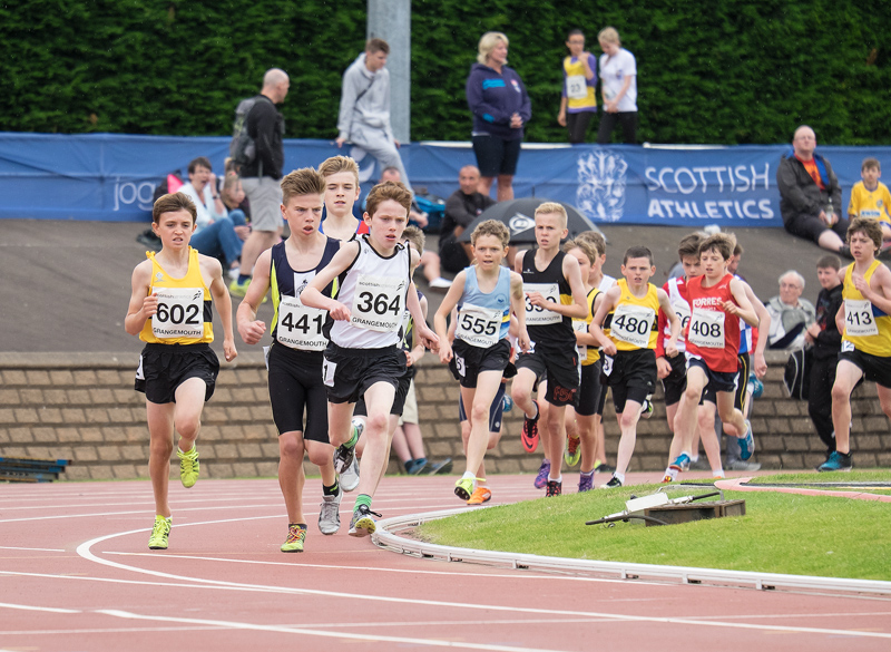 A very high standard race with all the top runners in Scotland competing. Ben Cameron the one in the red vest near the...